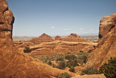 View of Arches National Park Stock Image
