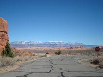 View from Arches National Park Stock Photo