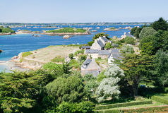 View on archipelago Brehat in Brittany Royalty Free Stock Photo
