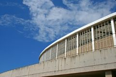 ARCHITECTURAL FEATURES OF MOSES MABHIDA STADIUM Stock Photo