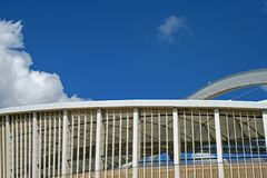 ARCHITECTURAL STRUCTURES OF MOSES MABHIDA STADIUM Royalty Free Stock Photos