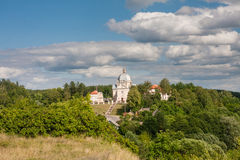 View of the architectural ensemble of the XVIII century.  Liskiava. Lithuania. View of the architectural ensemble of the XVIII century (Church of the Holy Stock Photography
