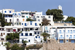 View of the architecture of Adamas Plaka typical Greek island i Stock Photography