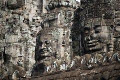 An architecture of Bayon face at Bayon Castle in Siem Reap, Camb. View of an architecture of Bayon face at Bayon Castle in Siem Reap, Cambodia royalty free stock photos