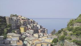 View on architecture and nature of old italian village. Manarola is one of the most popular old village in Cinque Terre