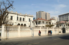 View of architecture in Tianjin city. Western style buildings at Minzu road Tianjin China photoed on march 15th 2014 Royalty Free Stock Photography