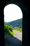 View through the archway castle of Altena Stock Photography