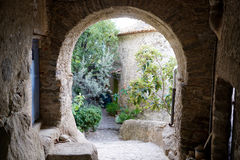 View through a archway in Eus Royalty Free Stock Image