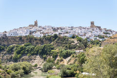 View of Arcos de la Frontera, Spain Royalty Free Stock Image