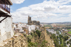 View of Arcos de la Frontera, Spain Stock Images