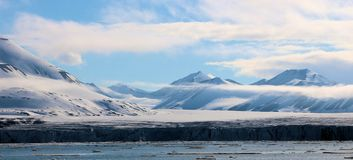 View of an Arctic landscape. A view of a landscape from The Arctic Ocean royalty free stock photos