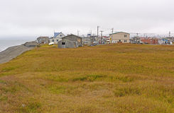 View of an Arctic Village Stock Photography