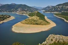 View of Arda River and Kardzhali Reservoir, Bulgaria Royalty Free Stock Photo