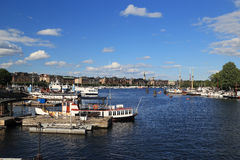 View on the area of Ostermalm, Stockholm Royalty Free Stock Images