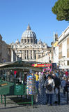 View on an area before Papal Basilica of Saint Peter in the Vatican Stock Photo