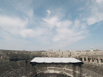 View of the arena Arles. Arles Roman Amphitheater, view of the arena Royalty Free Stock Photos