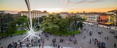 View from the arena of Verona Piazza Bra Stock Images