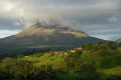 A view of Arenal volcano, Costa Rica. A view of Arenal volcano, Costa Rica at sunset Royalty Free Stock Photography