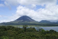 Inspiration View of Arenal Volcano from the other side. View of Arenal Volcan from the other side royalty free stock image