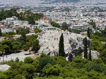View of the Areopagus from the Acropolis Stock Photos