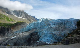 View on Argentiere glacier. Royalty Free Stock Image