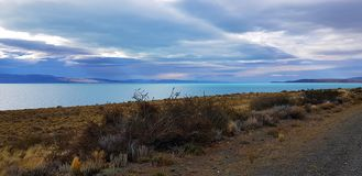 View of the Argentino Lake near El Calafate, Argentina royalty free stock photography