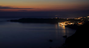 View on Arillas Agiou Georgiou (corfu island) by sundown Stock Image