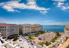 View of Aristotelous square, the heart of Thessaloniki Royalty Free Stock Images