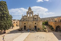 Arkadi monastery. Crete stock photo