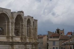 Arles arena - Camargue - Provence - France. View of Arles arena - Camargue - Provence - France Stock Photos