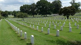 View of Arlington National Cemetery, Virginia, USA