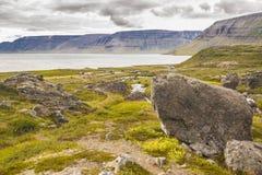 View on Arnarfjordur fjord - Iceland. Stock Photos