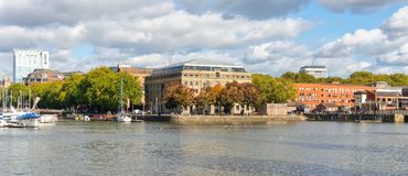 Arnolfini Arts Centre in Bristol Docks, England, United Kingdom stock images