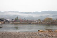 View around Kintai Bridge Kintai-kyo, the most distinguished l Royalty Free Stock Images