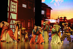 "View around-Large scale scenarios show"" The road legend"". The drama about a Han Princess and king of Tibet Song Xan Gan Bbu and the story, across stock photo"