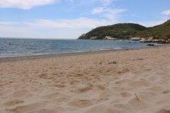 Arrabida beach. View of arrabida in a cloudy summer day Stock Images