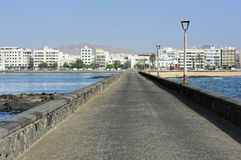 View of Arrecife from Castle of San Gabriel, Lanzarote, Canary I Stock Photo