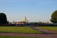 The view of the arrow and IN the Peter and Paul fortress on Vasi Royalty Free Stock Photos
