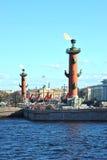 View of the arrow of Vasilevsky island Royalty Free Stock Photo