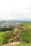 View from Arthur's Seat, Edimburgh Royalty Free Stock Images
