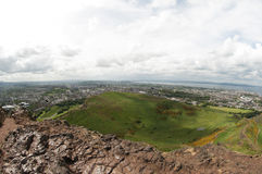 View from Arthur's Seat, Edinburgh Stock Image