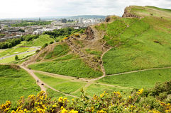 View from Arthur's Seat, Edinburgh Royalty Free Stock Photography