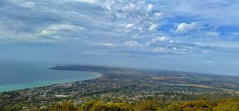 View from Arthur Seat VIC Australia. Scenic view of a town from the top of Arthur Seat Victoria Australia royalty free stock photography