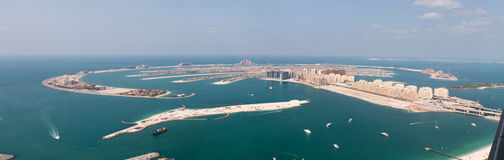 View on artificial island Palm Jumeirah Stock Photo