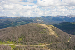 The view as seen from a high altitude in colorado Royalty Free Stock Photos