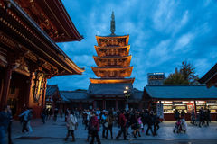 View of the Asakusa temple in Tokyo, Japan. The Asakusa temple in Tokyo, Japan Stock Photography