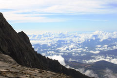 View of the ascending path to Mount Kinabalu Stock Photos