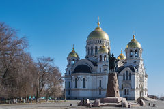 View of the Ascension Cathedral. In Novocherkassk, Russia Stock Images