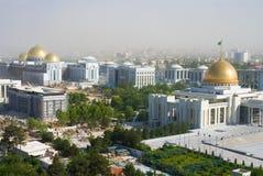 View in Ashgabat Turkmenistan. President palace in Ashgabat city royalty free stock photography