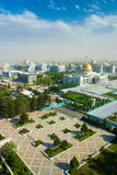 View in Ashgabat Turkmenistan. President palace in Ashgabat city stock images